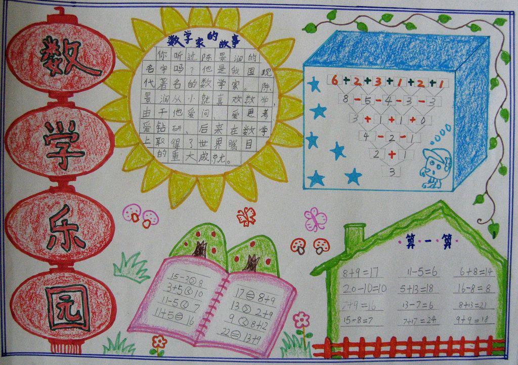 数学乐园 关于数学的手抄报 20字 20字